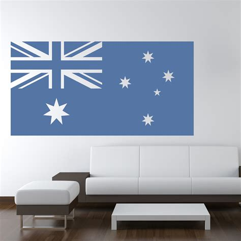 australia home decor australian flag australia rest of the world wall stickers