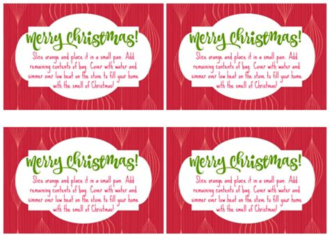 printable christmas potpourri tags simple practical gifts for less than 2 00