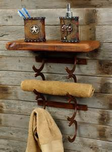 Horseshoe Decorations For Home by Western Home Decorating Ideas Rustic Horseshoe Towel