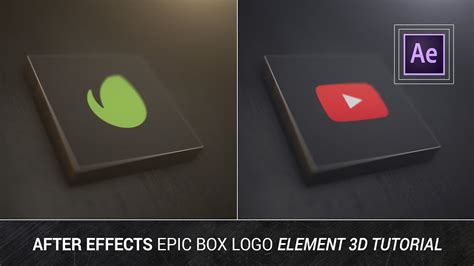 tutorial logo 3d after effects after effects epic box logo element 3d tutorial
