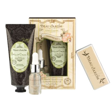 Beau Jardin Citrus Grove Manicure Kit 1 citrus grove beau jardin manicure kit cuticle