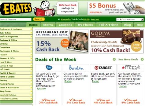 ebates official site online shoppers get cash back with ebates