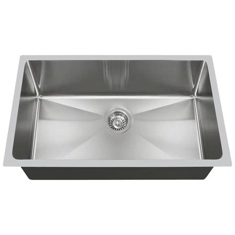 kitchen sinks direct mr direct undermount stainless steel 31 in single bowl