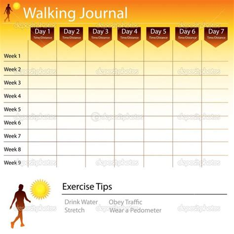 Printable Walking Journal | walking journals and charts on pinterest