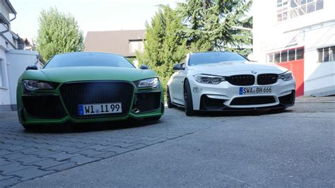 Audi R8 V8 Oder V10 by Audi R8 Vs Bmw M4 Oder Sauger Vs Turbo Akrapovic Vs