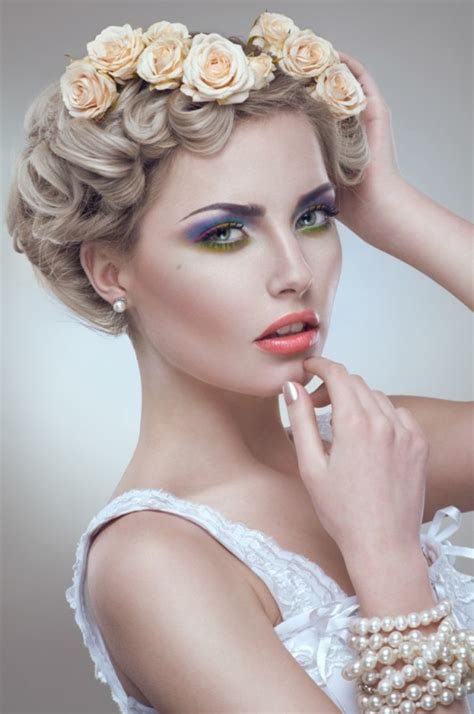 bridal hairstyles with roses which wedding hairstyles with flowers are trendy