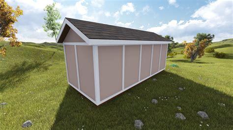 gable storage shed plan