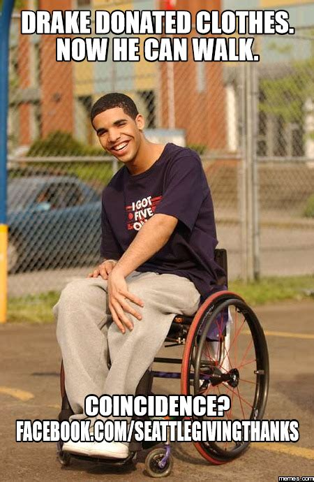 Drake Walking Meme - drake donated clothes now he can walk coincidenc memes com