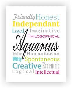 aquarius characteristics print by revigorer aquarius