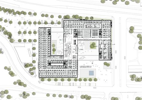 research center floor plan gallery of medforce research center winning