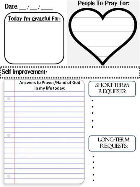 printable prayer list template a s best friend how to do a prayer journal