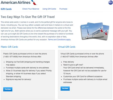 Exchange Aa Miles For Gift Cards - united airlines gift card balance lamoureph blog