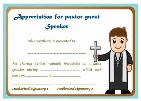 appreciation letter to guest speaker thoughtful pastor appreciation certificate templates to