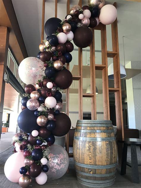 Wedding Burgundy, navy and rose gold balloon garland