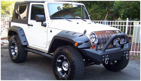 jeep fender flares jeep flat style fender flare set of 4 oe matte black