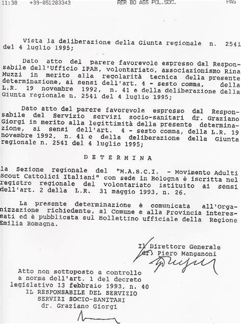 ufficio registro rimini iscrizione nel registro dei volontari emilia romagna parte