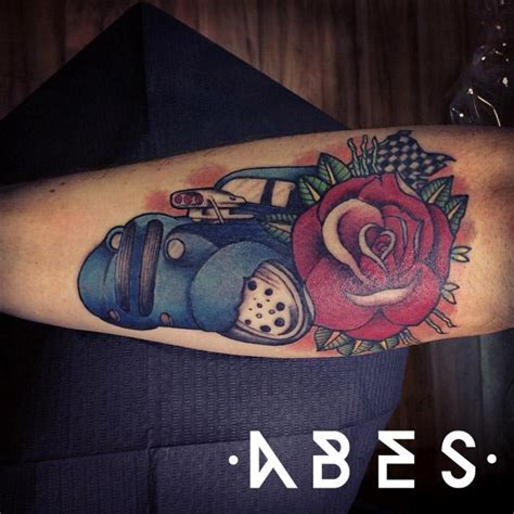 tattoo of hot rods hot rod by abes tattoonow