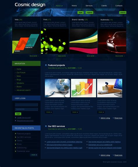 drupal themes zip design studio drupal template 24303