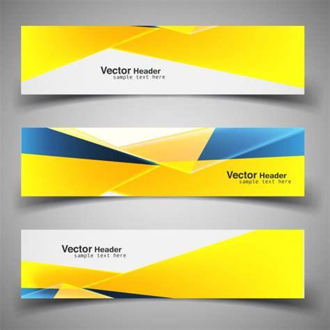 book header design vector shiny modern yellow headers vector free download