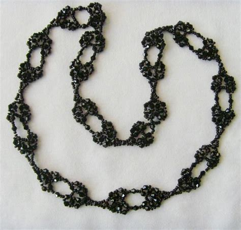 black necklace pattern free pattern for necklace black star beads magic