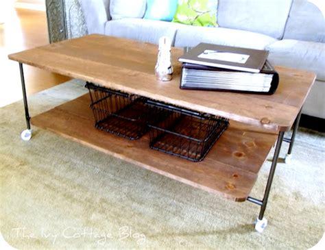 diy industrial coffee table wood and metal coffee table
