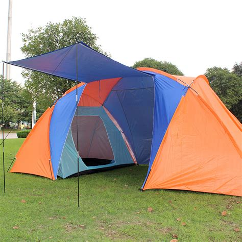 4 man tent 2 bedroom outdoor cing tent tourist big two bedrooms 4 season 4