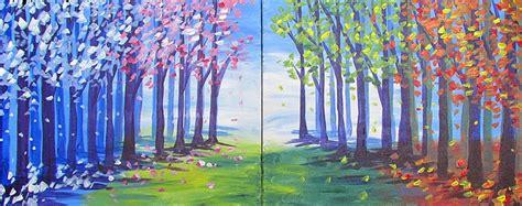 Paint Nite Path Of Seasons Partner Painting