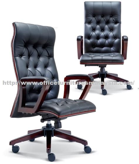 office furniture malaysia manager classic wooden lowback chair