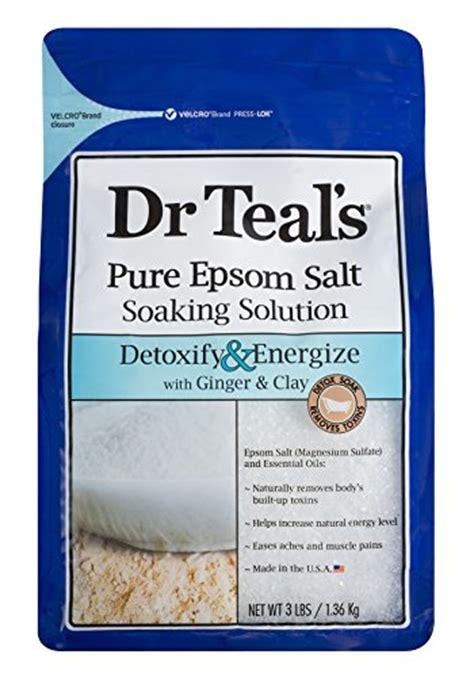 Epsom Salt And Clay Foot Detox by Dr Teals Epsom Salt Soaking Solution Detoxify