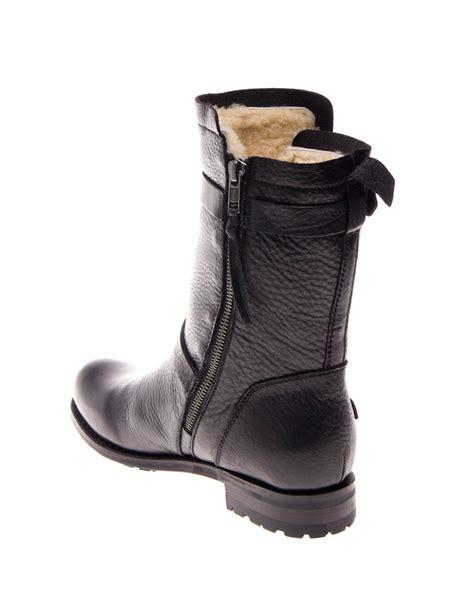 biker type boots blackstone laars biker boot black