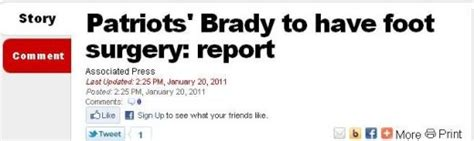 Report Had Recent Surgery by Why Does Tom Brady To Do A Report On Foot Surgery
