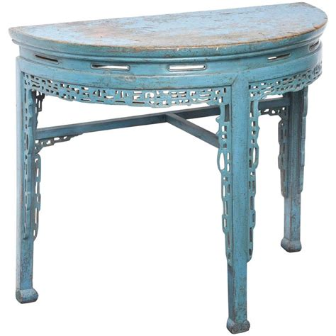 half sofa table 19th century painted half console table