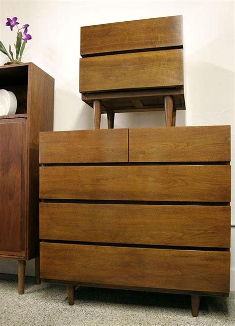 Dresser And Two Nightstands Vintage Bedroom Set Chest Side Bedroom Dresser 2 Nightstands Mid Century American Of Martinsville