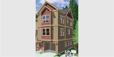 Triplex Plans by Narrow Lot Duplex House Plans Narrow And Zero Lot Line