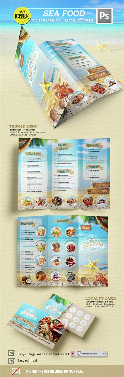 seafood menu templates seafood restaurant 2 crabs restaurant and restaurant