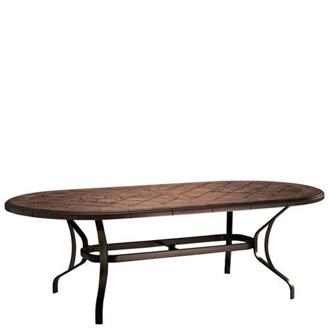 Aluminum Oval Outdoor Dining Table Modern Patio Outdoor Tropitone Patio Table