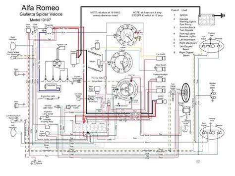 alfa romeo wiring diagram alfa romeo giulietta spider veloce 10107 wash system