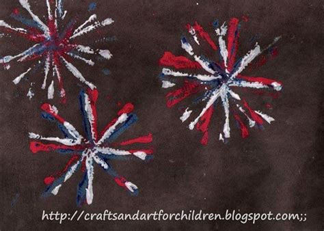firework craft for fireworks painting craft for