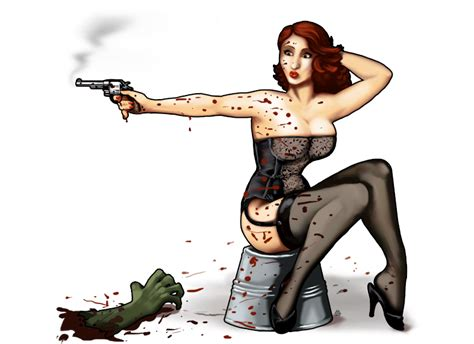 vintage zombie pinup attack mayhem by javen on deviantart
