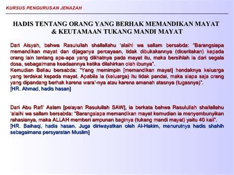 Sarung Rafi Ahmad pengurusan jenazah powerpoint