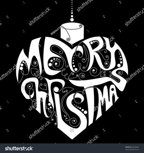 black white merry christmas decoration stock vector illustration  shutterstock