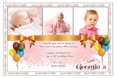 Personalized Invitation Card For Birthday Sle Personalized 1st Birthday Invitations 96 In Card
