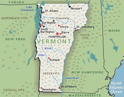 vermont united states map vermont counties road map usa
