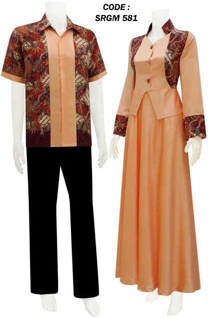 Baju Batik Sarimbit Gamis Prada gambar batik terusan modern design bild
