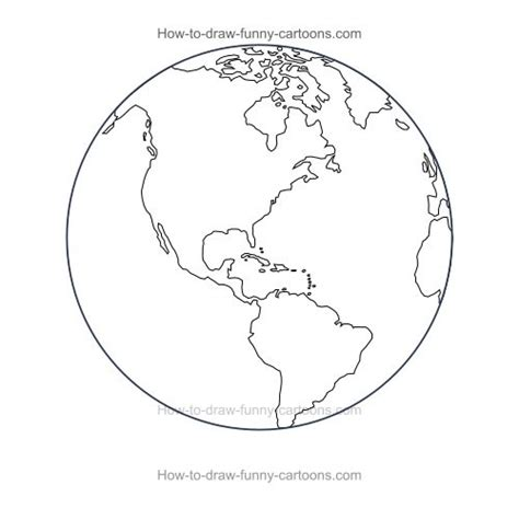 World Outline Drawing by Globe Sketch Www Imgkid The Image Kid Has It