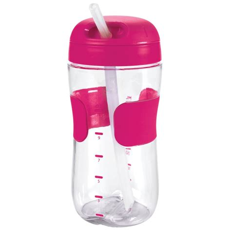oxo tot straw cup 11oz 300ml pink babyonline