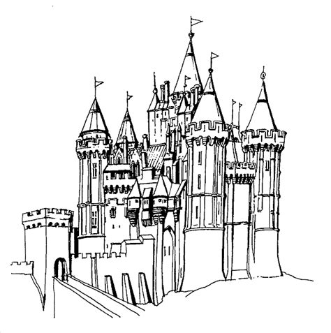 free coloring pages of castle elsa