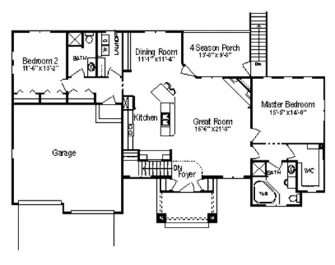 1600 square foot house plans traditional style house plan 2 beds 2 baths 1600 sq ft