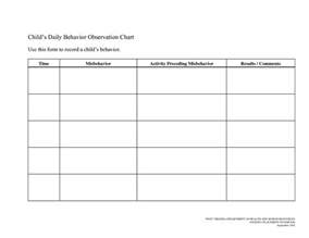 7 best images of printable behavior sheets classroom