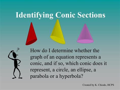identifying conic sections ppt identifying conic sections powerpoint presentation